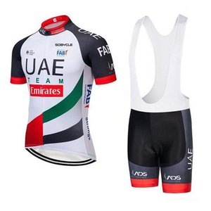 2019 UAE Cycling Jersey KitsMen Summer Racing Clothing mtb Bike shirt bib shorts set Ropa Ciclismo Short Sleeve mtb Bike Sports wear 121002Y