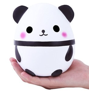 New Jumbo Squishies Kawaii Panda Egg Squishy Super Soft Slow Rising Jumbo Squeeze Phone Charm Cream Scented Reduce pressure