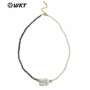 WT-JN132 Venta al por mayor Hermosa DIY Mano Make 4mm Pearl Beads Necklace Moda Fashion Pearl Pearl and Stone Mix Beads Collar
