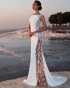Women Lace Sexy Elegant Sleeveless Night Party Wedding Maxi Dress Formal Long Bodycon White Dresses Drop Shipping