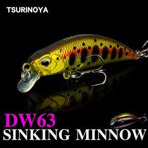 Tsurinoya DW63 Sinking Minnow Lure Set 50mm 5G 4pcs Mini Minnow Hard Pesca Pesca Swimbait Wobblers artificiali Crankbait Peche Leurre Q1123