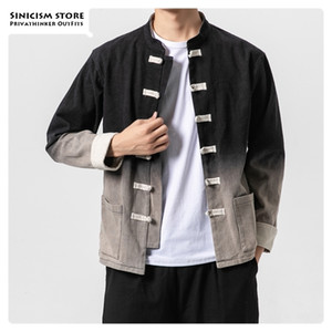 Sinicism Store Gradient Casual Chinese Style Men Jackets Autumn Vintage Mens Jacket Fashion Single Breasted Male Coat 5XL 201123