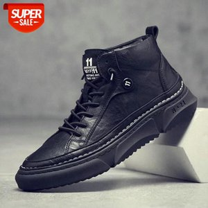 Outdoor Men Casual Shoes Adult Comfortable Mens Sneakers High Top Black White Man Walking Trainers Shoes Zapatillas De Deporte #fW3Y