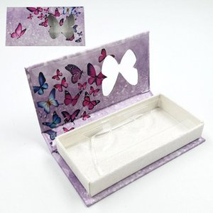 butterfly window false eyelash box long empty mink lashes cases tray butterfly printed false eyelash packaging box sea shipping DHB4558