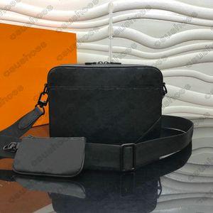 M69827 Duo Pelle Shadow Messenger Set BAG BAG Sprinter Soft Mono Mens Crossbody 2pcs Borse Borsa uomo Borsa a tracolla Borsa in rilievo G Jvets