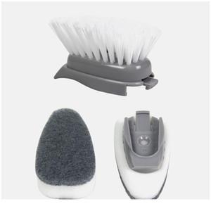 1 5pcs Double Use Kitchen Cleaning Brush Scrubber Dish Bowl Washing Sponge Matic Liquid Dispenser Kitchen Pot Clea bbyXFu