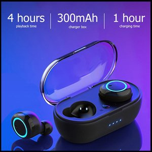 DHL Free TWS Stereo Wireless Earbuds Bluetooth Headset Touch Control Earphone Handsfree With Microphone