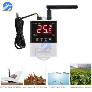 Wireless Wifi Temperature Controller Thermostat AC110-220V DS18B20 NTC Sensor Digital Display APP Control for Smart Home Aquariu