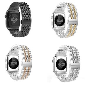 High Class Stainless Steel Seven Points Replacement Band For Apple Watch All Series 40mm 44mm 42mm 38mm Wrist Bracelet Strap