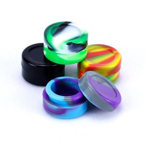 20 stücke bunte nicht stick fahrzeug g silikon dab wachs container 2 ml 5 ml runde nicht stick wachs container silikongläser