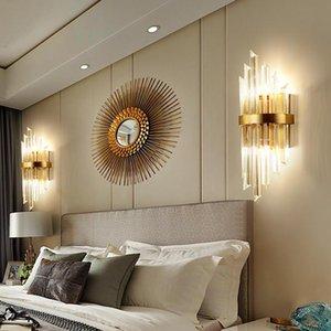 Post Modern Concis Crystal Wandleuchte Ein Wohnzimmer Schlafzimmer Nachttischlampe Korridor Gang Originalität Nordeuropa Kristallwand