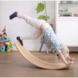 Outdoor Sports toys Child Balance Toy Wooden Seesaw Indoor Curved Board Baby Double Wooden Outdoor Seesaw Yoga Board kids gift