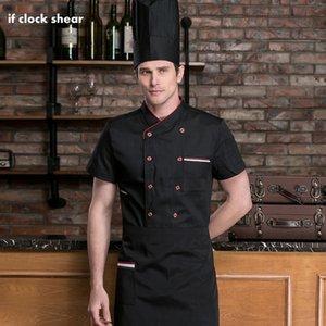 Hôtel Restaurant Chef Uniforme Manches courtes Cuisine Travail Hommes Vêtements professionnels Vêtements Cuit Chemise de cuisson Sushi Costume