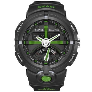 Smael Fashion Men 3D Big Dial 50m Waterproof Multifunction Dual Time Chrono Alarm Sport Watches SMAEL1637