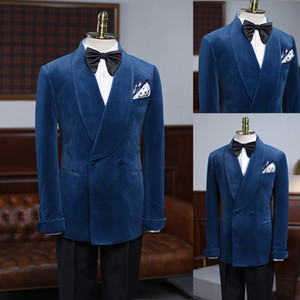 Mens Suits Custom Made Business Tuxedos One-Button Notched Lapel Groom Wear Custom Made Casual Business 2 Pieces Suits Jacket and Pants