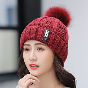 20pcs Winter Warm Women Hats Cozy Hedging Hat Plus Velvet Thickening Warm Knitted Hats Korean Fashion Women Knitted Valve Suit Woolen Hats