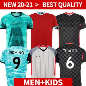 لاعب نسخة 20 21 LVP 4th Mohamed M. Salah Fridsino Soccer Jersey Football Shirts Virgil Mane Keita 2021 2022 Homekeker Men + Kids Kit