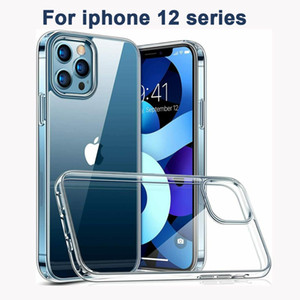 For iPhone 12 mini Pro Max 2.0mm Clear Transparent soft TPU Phone Case Shockproof Mobile Phone Back Shell Cover clear protector
