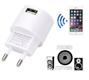 AC 110V 220V Audio Adapter USB Wall Charger Wireless Bluetooth Receiver Adapter 3.5MM AUX V5.0 Audio Music Receiver EU US Plug