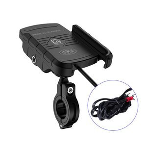 12V Motorcycle Phone Qi Fast Charging Wireless Charger Bracket Holder Mount Stand for iPhone Xs MAX XR X 8 Samsung Huawei Xiaomi