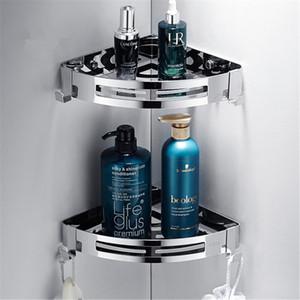 3 Layers Corner Shower Shelf Bathroom Shampoo Shower Shelf Holder Kitchen Storage Rack Punch Free Kitchen Tripod Corner Stand