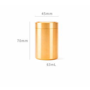 Caja de lata de té de aluminio 45x70mm Pequeño cilindro SELLADO CAFE CAFE TEA TEA CAJA DE ALMACENAMIENTO 6 COLORES EEA2201