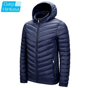 DARPHINKASA Men Winter Parka Coat Jacket Waterproof Hooded Hat Detachable Jacket Men Solid Color Ultra Light Women Parka Coat 201125