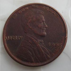 US One Cent 1955 Double Die Penny Copper Copper Copper Moedas Metal Craft Dies Fabricação Price