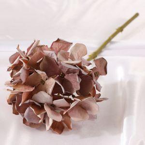 Großhandel hochwertige seide künstliche hortensie blume ins hot ölgemälde hortensie für dekoration blume dhe3381