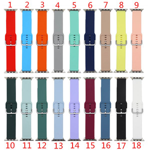Soft Silicone Strap Watch Band for Apple Watch Series 1 2 3 4 5 6 38mm 42mm 40mm 44mm for iwatch Band