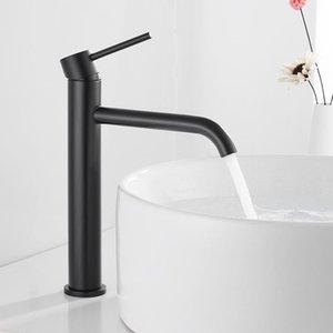 BAJO BAJO DE BAÑO FAUSIN FAUCE TAPAS ALTRAS Lave la cara de la mano mezclador de palanca individual Lavabo de lavado de agua caliente y fría Faucets Hotbest