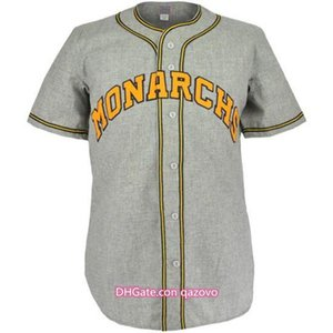 Kansas CityMonarchs 1945 Road Jersey 100% Stitched Embroidery Logos Vintage Baseball Jerseys Custom Any Name Any Number Free Shipping