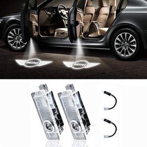 LED Mini Logo Car Door Light Projector Courtesy LED Laser Welcome Lights Ghost Shadow Light Lamps for Mini Cooper 12V(2 Pcs)
