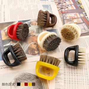 Ring Design Horse Bristle Men Shaving Brush Plastic Portable Barber Beard Brushes Salon Face Cleaning Razor Brush beard comb