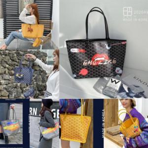 I7pn Korea EMQ dog tooth designer o graffiti Goya Graffiti 2020 new fashion Handbag handbagHandbag small CK net red luxury vegetable basket