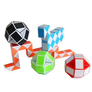 2021 Высокое качество Новая Интеллектуальная Головоломка Игрушка Пластиковая Складная Волшебная Змея Твист Волшебный Правитель Куб Для Малыша