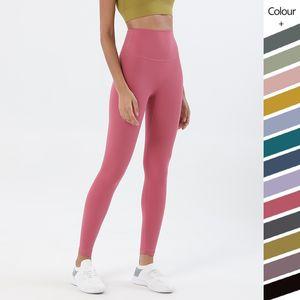 Pantalones de yoga Legging Correr Fitness Gimnasio Ropa Mujeres Leggins Preguntas de entrenamiento sin fisuras Desnudo High Cintura medias Ejercicio Pantalón