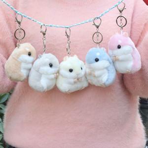 Cartoon key chain Hamster doll plush toy Little pendant doll gift for girls
