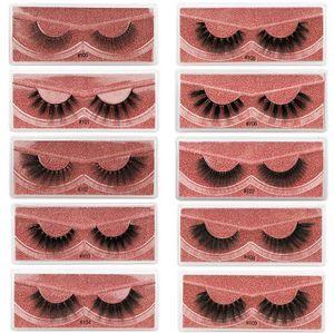 New Arrival 3d Mink eyelashes Thick real mink Hair false lashes Eye Lash Makeup Extension fake Eyelashes set 10 Styles 1box=1pairs
