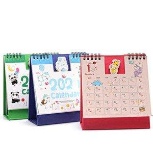 Hot 2021 Mini Desk Calendar Cartoon Korean Mini Desktop Desk Calendar Retro Calendar Book Kawaii 15*16cm