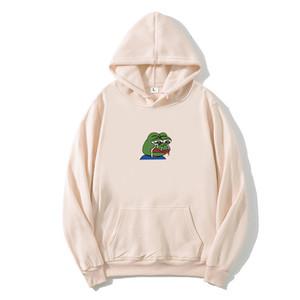 Larmes créatives drôles imprimés pepe grenouille hommes long Mouwen haikyuu hodique streetwear hip hip hodies femmes
