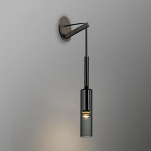 Novo estilo nórdico loft roupas de cristal lâmpada de parede criativa projeto de garrafa de vidro sala de estar quarto de estúdio de cabeceira