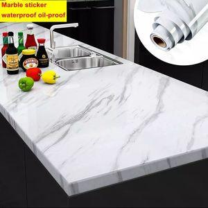 3D auto adesivo PVC PVC impermeável Wallpapers Móveis de desktop Filme decorativo para cozinha casa de banho à prova de óleo adesivos de parede 201207