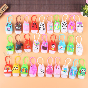 30ml Hand Sanitizer Holder Keychain Silcione Cartoon Mini Bottle Cover Gel Holder Hand Soap Bottle Holder With Refillable Travel Bottle