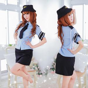 Japanische Faust exotisch Uniform Cosplayoffizier flirtet sexy Mädchen AV-Schauspielerin-Anzugsperspektive 3