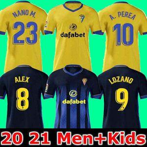 2020 Cadiz Soccer Jerseys Cádiz CF 20 21 Lozano Alex Bodiger Juan Cala Camiseta Ascenso A Tiga Santander de Fútbol Shirts