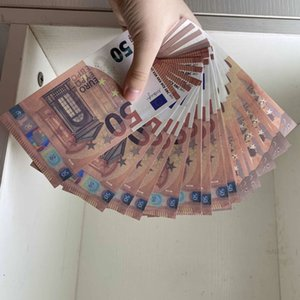 50 Euro Realistic Prop money us kids play toy or family game paper copy banknote for collection 039 100pcs pack