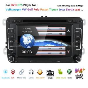 2 DIN 7 pulgadas coche DVD GPS Radio Player para Volkswagen VW Golf 5 6 Touran Passat B6 B7 Sharan Jatta Skoda Seat Autoradio con BT