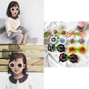 Ins Mais Novos Unisex Kids Meninas Meninos Girassol Óculos De Sol Meninas Óculos De Sol Ultravioleta-Prova Kids Glasses Boys Óculos Acessórios Designer