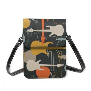 2021 Women Messenger Shoulder Straps Bag Electric Guitars Collection Card Holders Cell phone Pocket Handbag Ladies Phone Purse